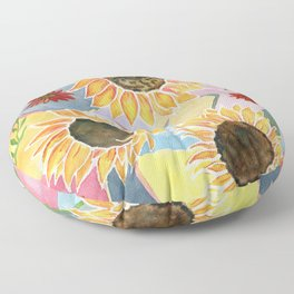 Sunflowers Art Deco Floor Pillow