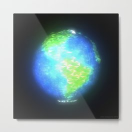 Albedo: Americas by Day Metal Print