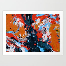 Abstract artistic painting Art Print