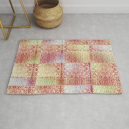 Faux Patchwork Quilting Rug