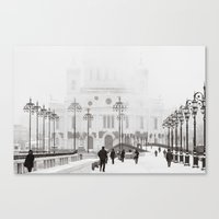 Canvas Prints featuring Winter In Moscow by digital2real