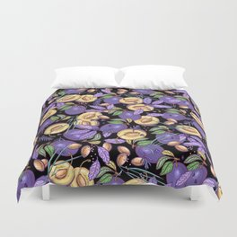 Purple plum garden. Duvet Cover