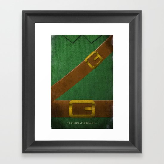 Video Game Poster: Adventurer Framed Art Print