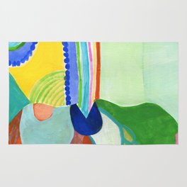 Abstract Rainbow Sprout Landscape Rug