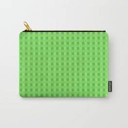 Lime Green Retro Squares Carry-All Pouch