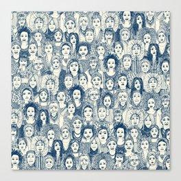 WOMEN OF THE WORLD BLUE Canvas Print