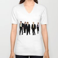 reservoir dogs V-neck T-shirts featuring Reservoir Dogs by Tom Storrer