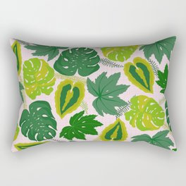 Greens and Leaves Rectangular Pillow