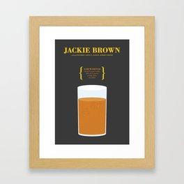 JACKIE BROWN _MOVIE COCKTAIL_Tarantino  Framed Art Print