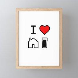 I Heart Homebrew Framed Mini Art Print