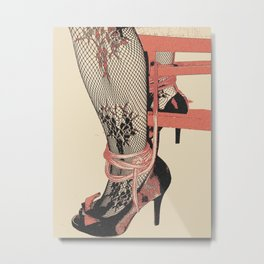 The Heels, The Ropes, Let's play Dirty Metal Print