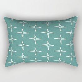 Nautical Star Teal #homedecor Rectangular Pillow
