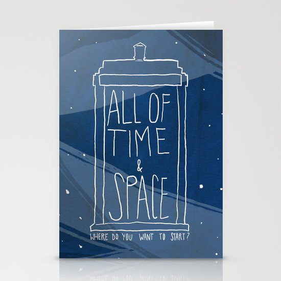 All Of Time And Space Stationery Cards