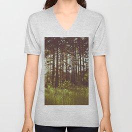 Summer Forest Sunlight - Nature Photography Unisex V-Neck