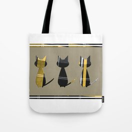 Cats in Tartan - very Scottish Tote Bag
