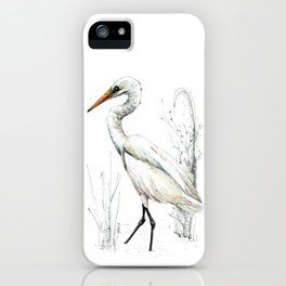 Mr Kotuku , New Zealand White Heron iPhone Case