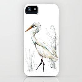 Mr Kotuku , New Zealand White Heron iPhone Case
