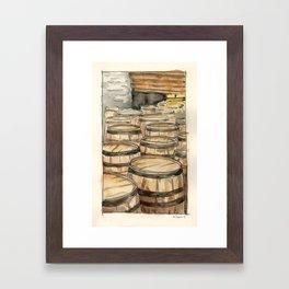 Woodford Reserve Barrels Framed Art Print