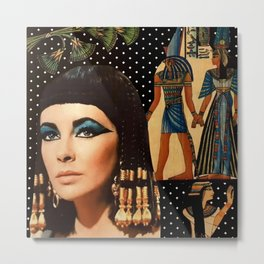 Cleo Collage Metal Print