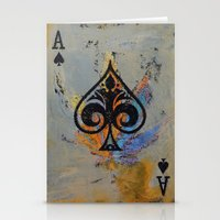 ace attorney Stationery Cards featuring Ace by Michael Creese