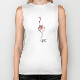 Ostrich / Abstract animal portrait. Biker Tank