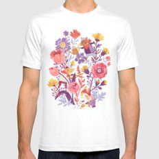 The Garden Crew X-LARGE Mens Fitted Tee White