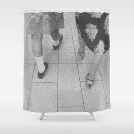 Traces - women walking Shower Curtain