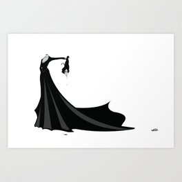 Béatrice Beheaded Art Print