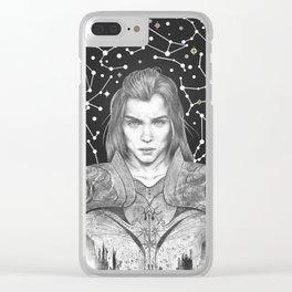 zodiac knight Clear iPhone Case