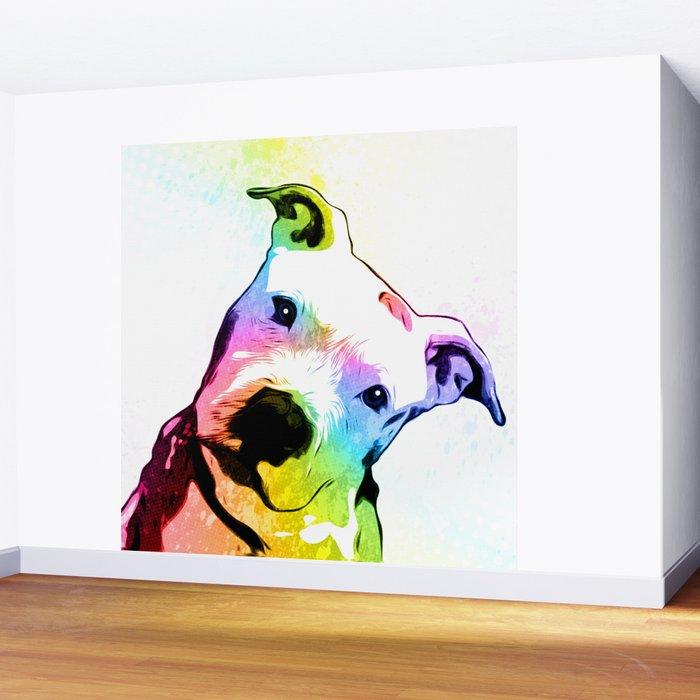 Pit bull | Rainbow Series | Pop Art Wall Mural