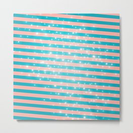 Juicy glitter stripes - Color day 1 Metal Print