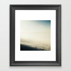 Out In The Morning, Into The Mist Framed Art Print