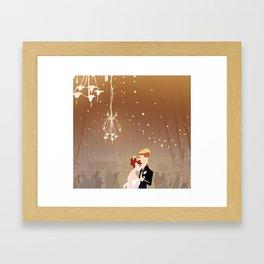 Barn Wedding Framed Art Print