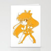 sailor venus Stationery Cards featuring Sailor Venus by TheLoreFactory