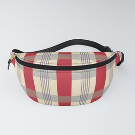Red Striped Plaid Fanny Pack