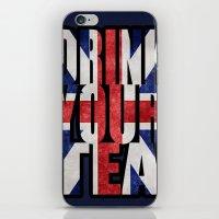 british flag iPhone & iPod Skins featuring Tea / British by tshirtsz