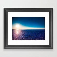 Glowing Beach Framed Art Print
