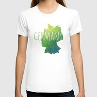 germany T-shirts featuring Germany by Stephanie Wittenburg