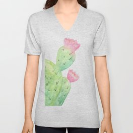Watercolor Cactus | Buy Watercolor Art | Society 6 Unisex V-Neck