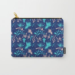 Fantail Frolic Blue Pattern Carry-All Pouch