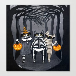 The Trick or Treat Gang Canvas Print