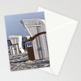 White Beach Chairs Stationery Cards