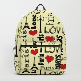 Paris text design illustration Backpack