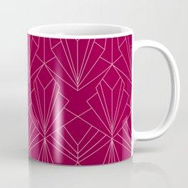 Art Deco in Raspberry Pink Coffee Mug