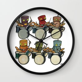 Robot - Drummers Wall Clock