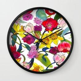 Tulips & Daffodils  Wall Clock