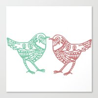 birdy Canvas Prints featuring Birdy by Charline Denys