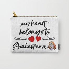 Heart Belongs to Shakespeare 2 (w/figure) Carry-All Pouch