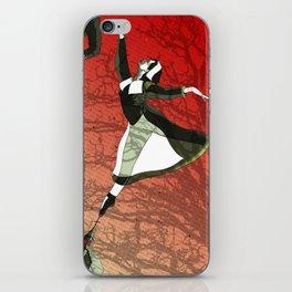 Watch as she dances iPhone Skin
