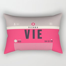 Baggage Tag A - VIE Vienna Austria Rectangular Pillow